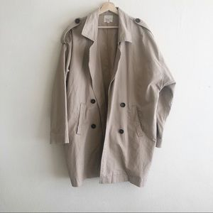 Silence and Noise cotton trench jacket